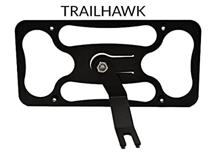 Jeep TRAIL HAWK Front Black Stainless Steel Heavy Duty License plate Frame Bolts
