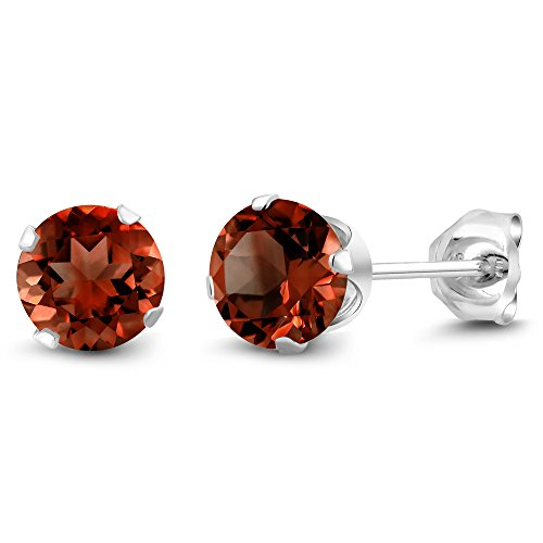200-ct-round-genuine-red-garnet-gemstone-birthstone-womens-925-sterling-silver-stud-earrings-6mm