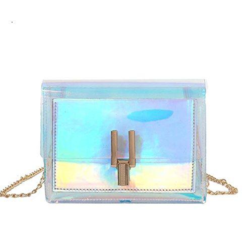 CILLA Mini Hologram Clear Cross Body Purse Shoulder Bag Handbag for Women by CILLA