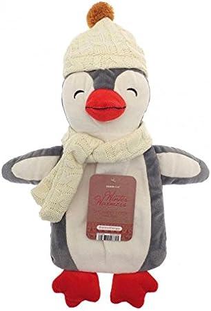 mouton beige Bouteille deau chaude avec la carabine de la licorne Pingouin Singe en peluche /à couverture super douce Caoutchouc naturel de qualit/é sup/érieure Sac deau chaude de 1 litre