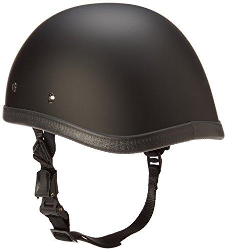 Daytona Eagle Flat Black Skull Cap Novelty Motorcycle Helmet [X-Large] by...