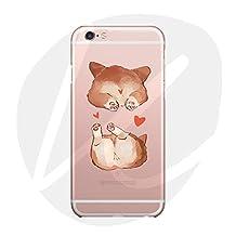 (T Cat)iPhone 6/6S Case Cover,Cute Pet Animal Cartoon Dog(Corgi-Lovely and Sexy Small Ass)phone Case,Slim,Shock-Absorption Bumper,Anti-Scratch TPU Soft Case,With Lanyard--Welsh Corgi Pembroke-02