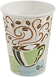 Dixie PerfecTouch 8 oz. Insulated Paper Hot Coffee Cup by GP PRO (Georgia-Pacific), Coffee Haze, 5338DX, 500 C