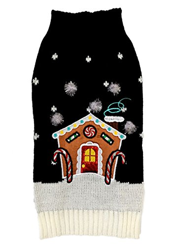 New York Dog Sweaters Gingerbread House, (Gingerbread Pup Dog Costumes)