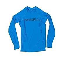 O'Neill Youth Basic Skins UPF 50+ Long Sleeve Rash Guard, Bright Blue, 14