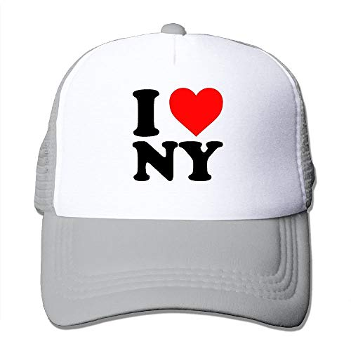 Unisex I Love New York Adjustable Running Cap Hat Ash