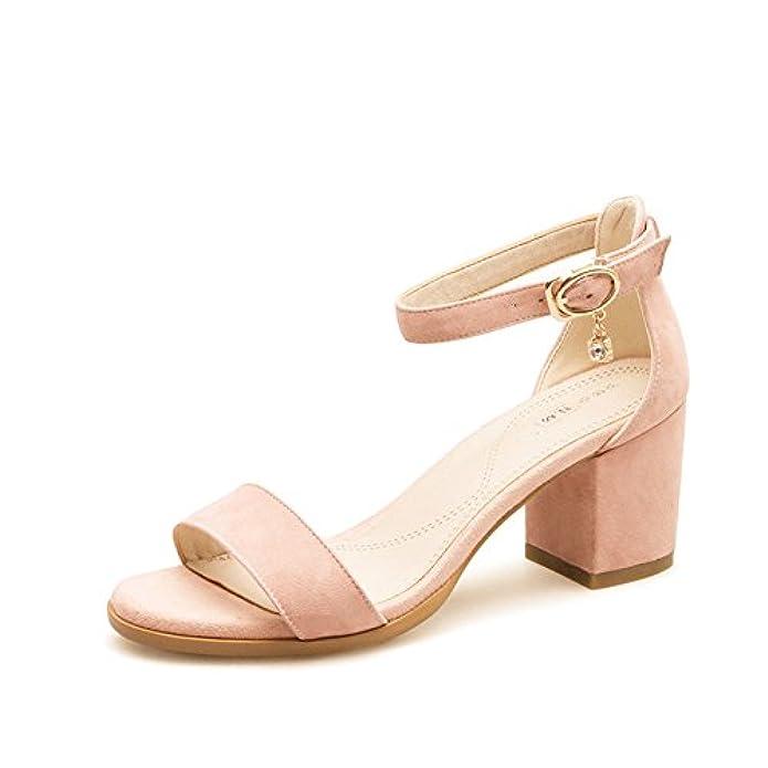 Scarpe E Borse Da Donna Sandali Signora estate sandali Tacco Alto Selvatici una Cintura Di Fibbia sandali