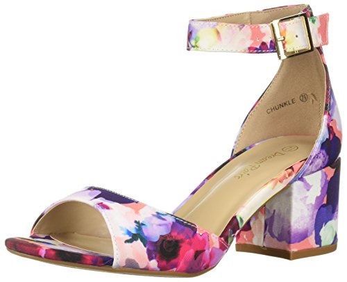 DREAM PAIRS Women's CHUNKLE Pump, Floral, 9 M US (Sandals Wedge Floral)
