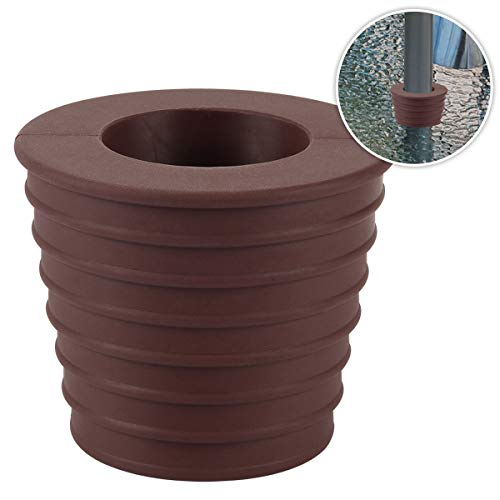 Umbrella Cone Wedge for Patio Table Hole Opening or Parasol Base Stand 1.8 to 2.4 Inch Umbrella Pole Diameter 1 1/2 Inch (Dark Brown) (Patio Stand Umbrella Brown)