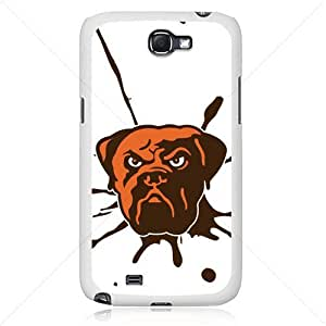 NFL American football Cleveland Browns Fans Samsung Galaxy Note 2 II N7100 TPU Soft Black or White case (White)