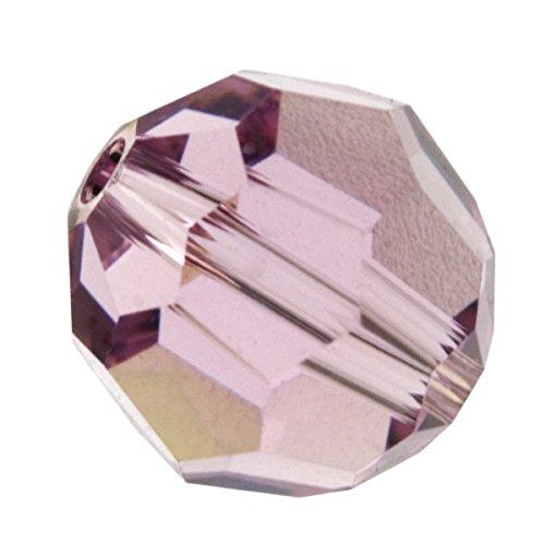 - 6mm Light Amethyst 5000 Round Swarovski Crystal Beads - Pack Of 12