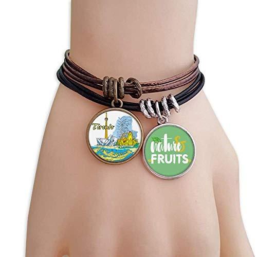 DIYthinker Canada Flavor Toronto Scenery Landmark Bracelet Rope Natural Fruit Wristband