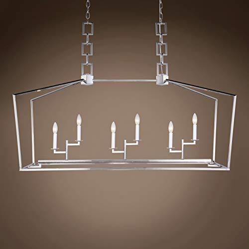 (Transitional 19Th C. English Openwork Linear Lantern 6 Light 54