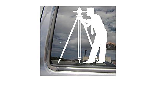 Surveyor Engineer Transit Surveying Car Auto Window Vinyl Decal Sticker 10053