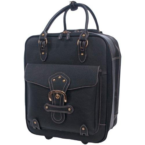 Jill-e Black XL Rolling Leather Camera Bag - 243096