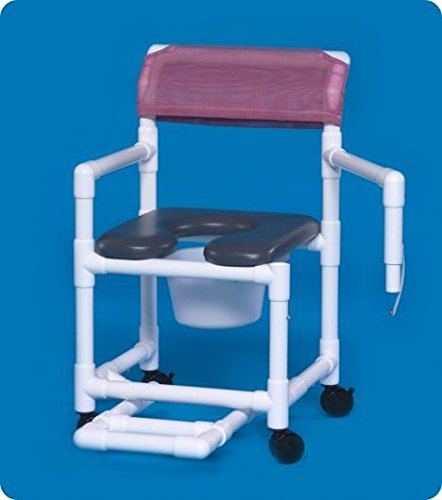 Standard Line Open Front Soft Seat Shower Chair Commode - VLOF17PFRLSA - VLOF20PFRLSA - 41'' H x 21'' W x 21.5'' D
