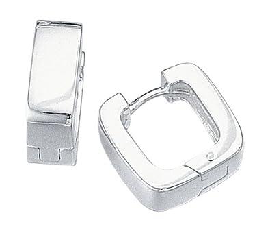 Elements Silver Plain Huggie Sterling Silver Earrings MsMtBiRk