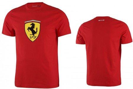 - Ferrari Red Classic Shield Tee Shirt