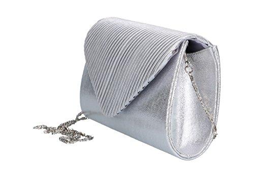 Bolsa mujer LUCA BORSE pochette plata de ceremonia VN49