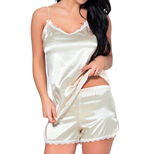 Pizzo Donna In Cinturino E Da Mxssi Con Sleepwear Camicia Pantaloncini Champagne Sexy Pigiama Gilet Notte Homewear XqIwxBWSzx