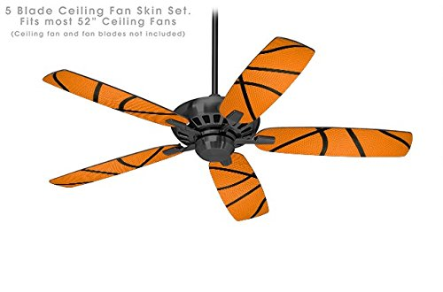 Basketball - Ceiling Fan Vinyl Decal Skin Kit fits most 52 inch fans (FAN and BLADES SOLD SEPARATELY)