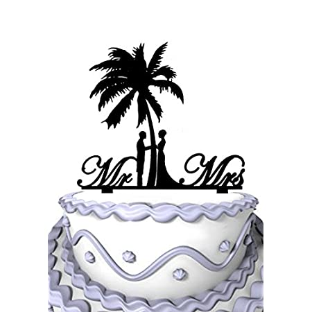 411J6KG4tOL._SS450_ The Best Palm Tree Wedding Cake Toppers