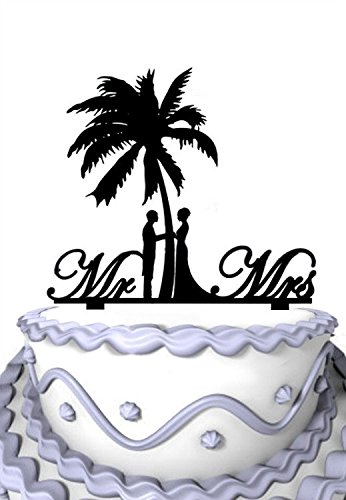 411J6KG4tOL The Best Palm Tree Wedding Cake Toppers