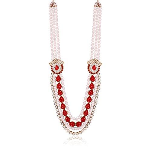 (I Jewels Necklace Groom Moti Mala for Men (MLP04R))