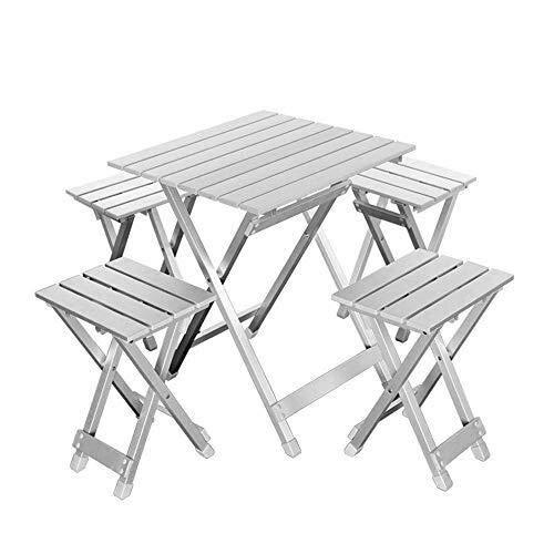ZHENYUE - Mesa de Picnic Plegable para 4 Personas, 4 sillas de ...