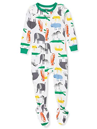 Carter's Baby Boys' 1-Piece Animals Snug Fit Cotton Pajamas (12 Months) (Animal Cotton Pajama)