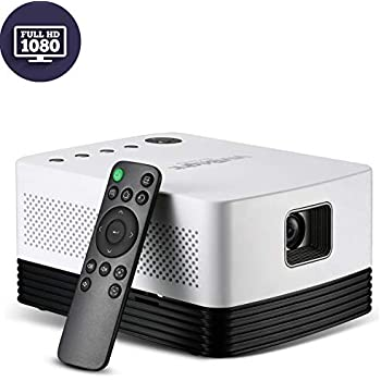 VIVIBRIGHT J20 Projector, DLP Portable Full HD Smart Projector with Android OS 18,000mAh Battery, Brightness 1,000 Ansi Lumens for Home Theater, ...