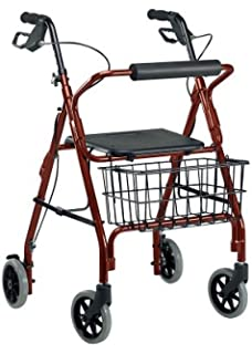 Amazon.com: Invacare 65851r Value Line cuatro rueda andador ...