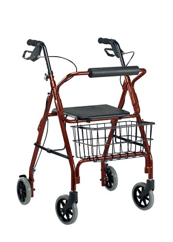 Drive Medical 10208RD-1 Go-Lite Rollator, Red by Drive Medical