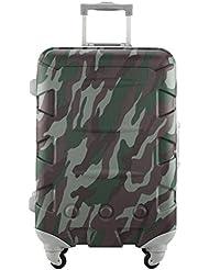 Ambassador Luggage Aluminum Frame 20 Carry On Luggage ABS Hardside Spinner Suitcase