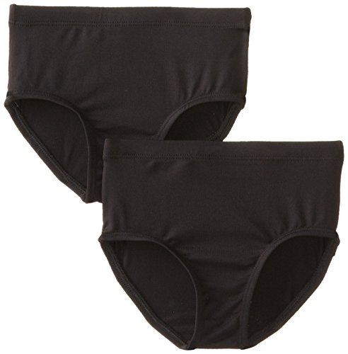 Clementine Little Girls' Athletic Brief 2Pack, Black, 3-4 ()