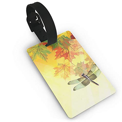 Diemeouk Luggage Tags Suitcases Dragonfly Border Insect PVC