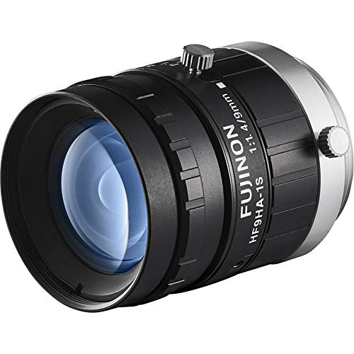 Fujinon HF9HA-1S 2/3'' 9mm F1.4 Manual Iris C-Mount Lens, 1.5 Megapixel Rated, Anti-Shock & Vibration Feature