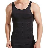 HANERDUN Mens Body Shaper Slimming Shirt Compression Vest Elastic Slim Shapewear