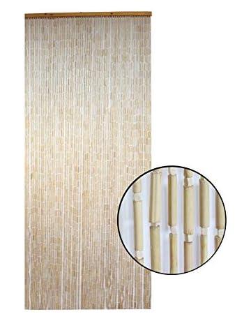 Cortina para Puerta de Madera de Bambu Natural, Sostenible exenta de plásticos 90 x 200
