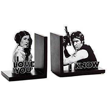 - Star Wars Han Solo and Princess Leia Bookends, Set of 2 Desk Accessories Sci-Fi