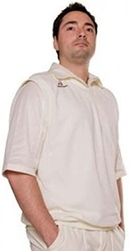 Woodworm Cricket Short Sleeve Mens Sweater White