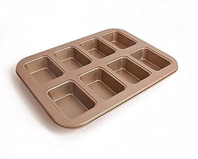 """Astra Gourmet 8-Cavity Nonstick Mini Loaf Pan,13.8""""x 10.5"""""""
