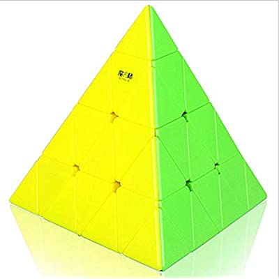 QIYI Mofangge 4x4 Pyramid Triangle Magic Cube Speed Cube Puzzle Cube for Children Adults Color Stickerless: Toys & Games