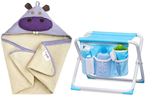 Sprouts Hooded Towel Tubside Hippo