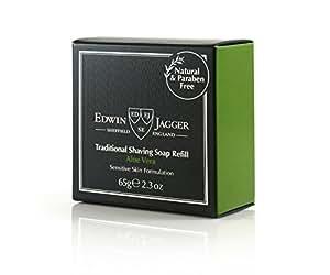Edwin Jagger Aloe Vera 99.9% Natural Traditional Shaving Soap 65G Refill