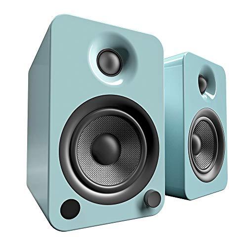 "Kanto 4"" Wireless 2-Way Bookshelf Speakers (Pair) Gloss teal YU4GT"