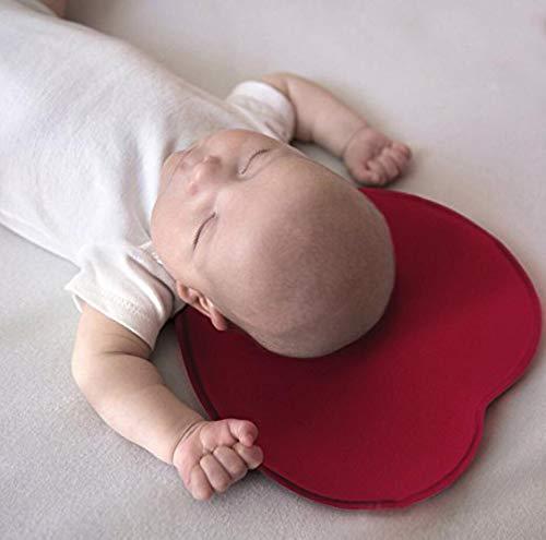 DEBAIJIA Almohada para bebé, Cojín Ortopédico para Niños, Prevención del Síndrome de la Cabeza Plana, algodón Suave y Respirable de espuma de memoria ...