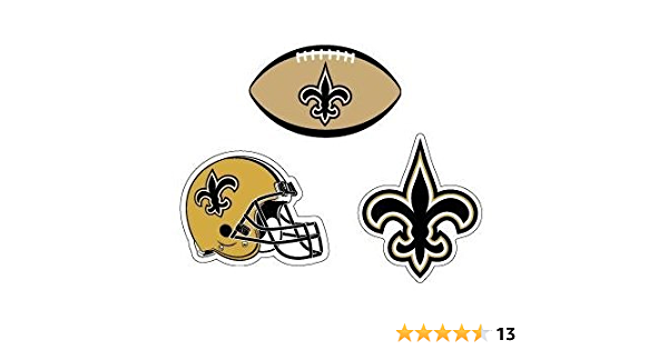 Black Gold and WhiteNew Orleans Saints Accessory Pack