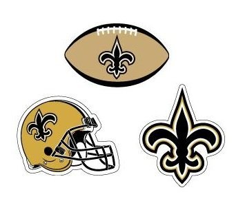 NFL New Orleans Saints Stickers Variety Pack of 3 with Football Trivia Combo Set]()