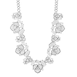 Floral Collar Rhinestone Necklace for Women